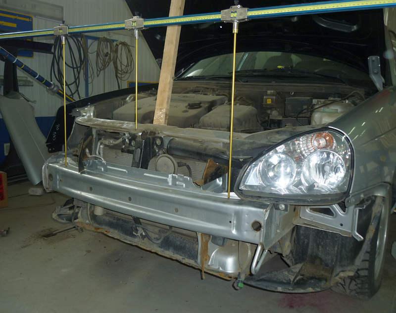 Автосервис Garage-37 - РЕМОНТЫ автомобилей - архив фото: ремонт кузова и покраска автомобиля Лада Приора.
